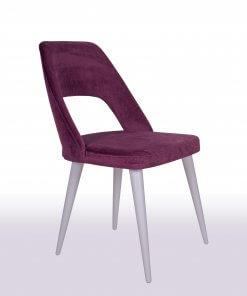 Maya Lake Beyaz Sandalye Modeli Çapraz Görünüm