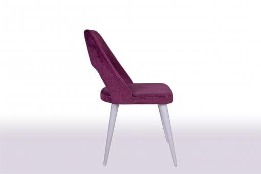 Maya Lake Beyaz Sandalye Modeli Yan Görünüm
